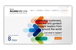 Accelarate 2018 Home Page